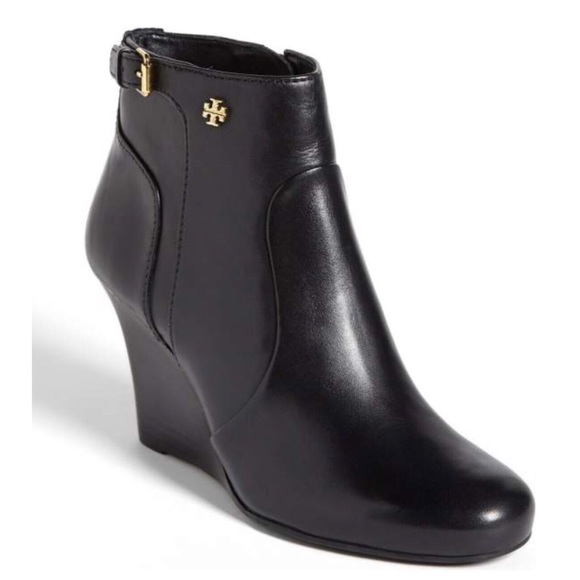 57f6ae4499e8 Tory Burch  Milan  Leather Wedge Black Booties. M 5ab9b9bdb7f72bdd15263751.  Other Shoes you ...